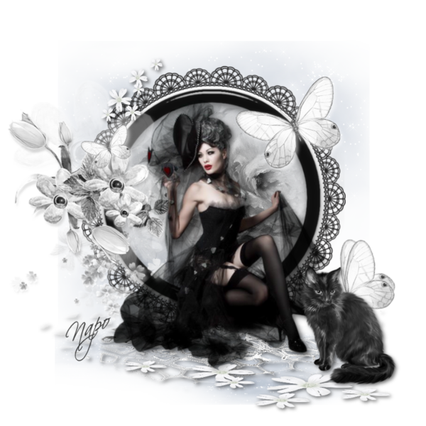 F e clochette gothique en noir et blanc dessin fee gothic - Dessin ange noir et blanc ...