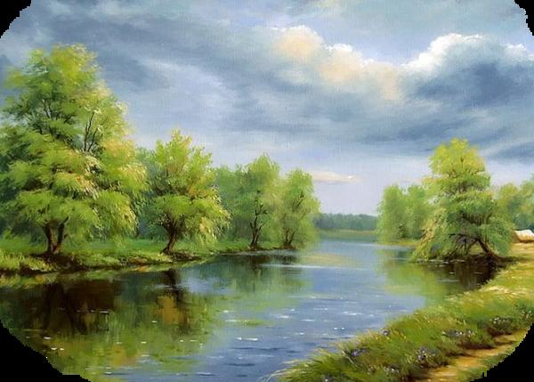 tubes paysage printemps Весенние Рамки